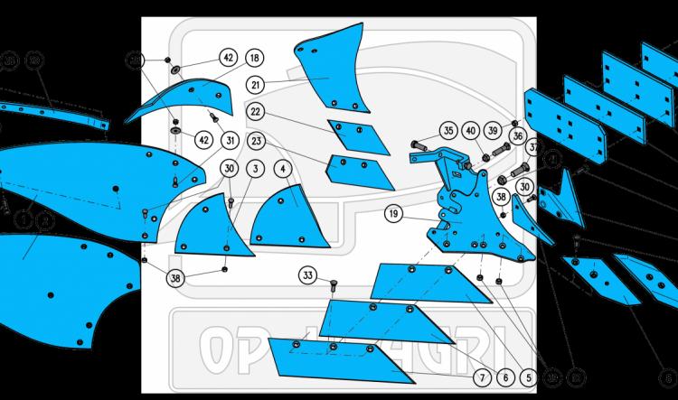 Части за плугове body B35, B40