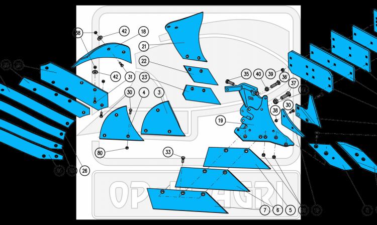 Части за плугове body BS40, BS42