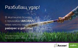 Аксиал: най-предпочитания продукт за борба с житните плевели от българските земеделски производители за 2019 година!